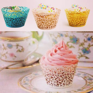Paper Lace Floral Cupcake and Muffin Wrapper 50pcs/pack