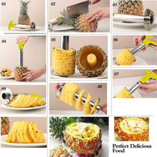 Stainless Steel Pineapple Peeler - Corer - Slicer