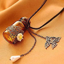 Retro necklace wishing bottle