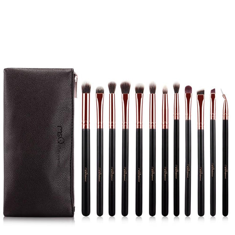 Makeup Brushes - 12 Pcs MSQ Pro Eyeshadow Makeup Brush Set