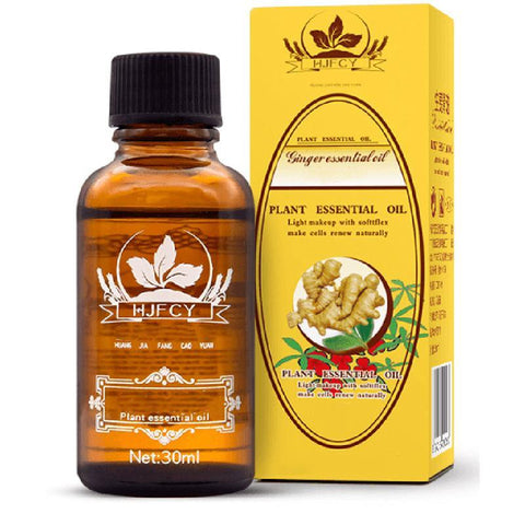 Lymphatic Drainage Ginger Oil - 100% Herbal Ginger Oil - Ginger Massage Oil
