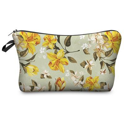Travel Makeup Bag - Cosmetic Case - Flower Wind