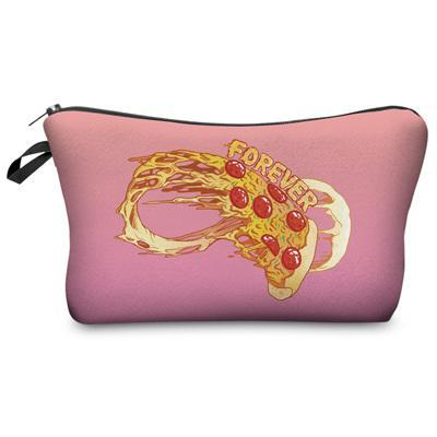Travel Makeup Bag - Cosmetic Case - Forever Pizza