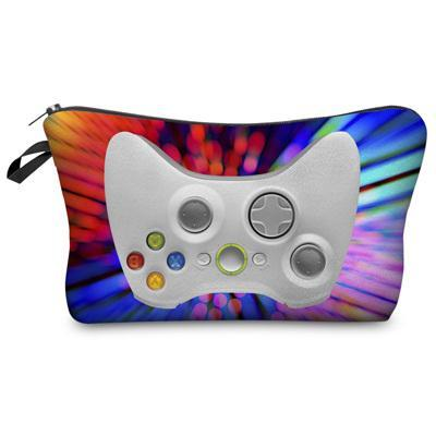 Travel Makeup Bag - Cosmetic Case - Game Pad