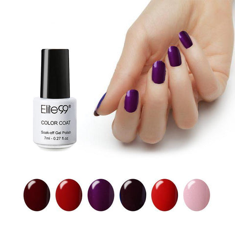 Nails - Semi Permanent Soak Off Nail Gel Polish - Elite99 UV & LED Candy Nail Colors