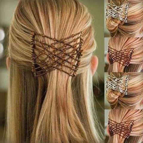 Hair Magic Flexible Butterfly Hair Clip - Magic Elastic Hair Comb
