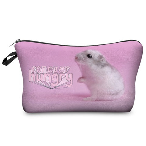 Travel Makeup Bag - Cosmetic Case - 4ever Hungry