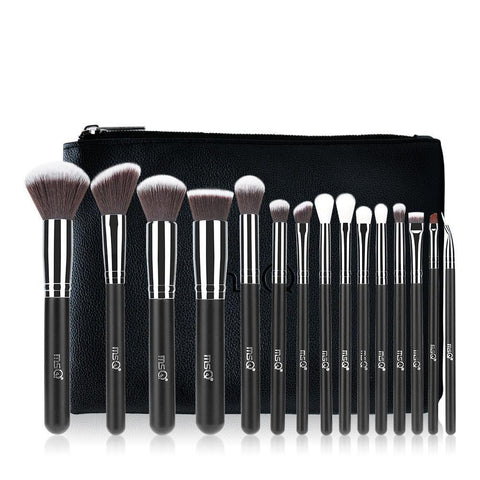 Makeup Brushes - 15 Pcs MSQ Pro Makeup Brush Set