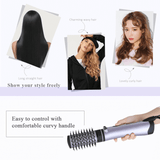 2 In 1 Rotating Curling Iron Brush
