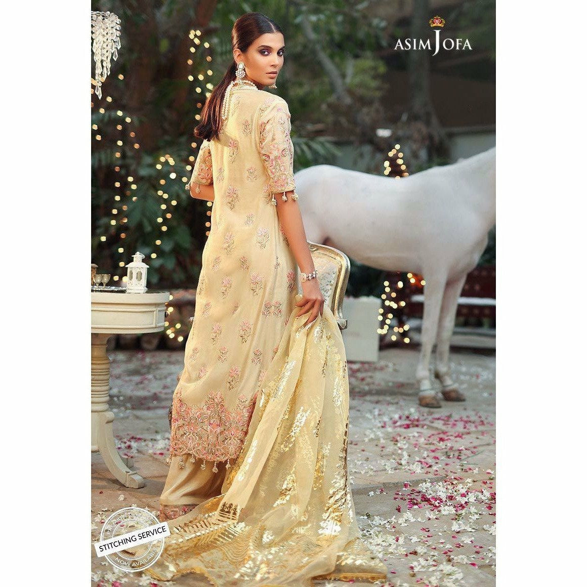 Asim Jofa Embroidered Collection 19 | AJCN-08