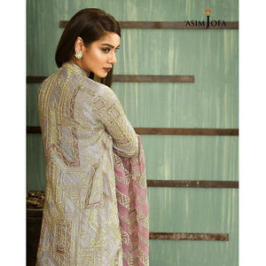 ASIM JOFA AJ-03A | EMBROIDERED WOMEN'S SUIT FULLY STITCHED COLLECTION