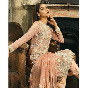 ASIM JOFA AJ-02B | EMBROIDERED WOMEN'S SUIT FULLY STITCHED COLLECTION