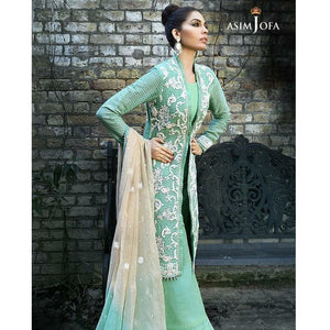 ASIM JOFA AJ-02A | EMBROIDERED WOMEN'S SUIT FULLY STITCHED COLLECTION