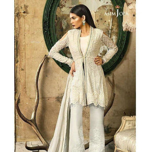 ASIM JOFA AJ-01A | EMBROIDERED WOMEN'S SUIT FULLY STITCHED COLLECTION