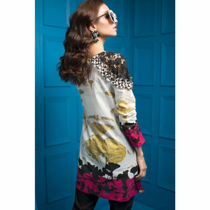 Tabassum Mughal - Tropical Gonzalo | Fully Stitched Women's Shirt