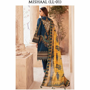 Gulaal | Luxury Lawn 21 | LL-01 Mishaal - House of Faiza
