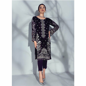 Sabiha Embroidered Velvet Wedding Edition 20 | Ecarlate GV-04 - House of Faiza