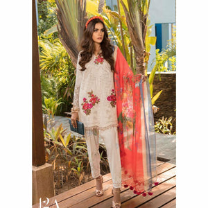 Sana Safinaz Luxury Lawn 2020 - 12A - House of Faiza