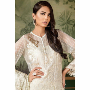 Baroque Luxury Chiffon Collection 2018 - Regency White