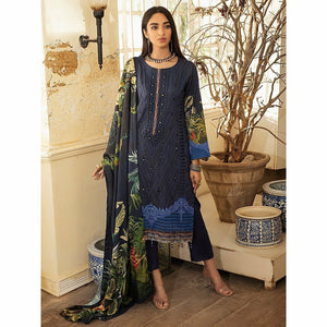 Salitex | Linen Digital Winter | 3pc | WK-00614 - House of Faiza