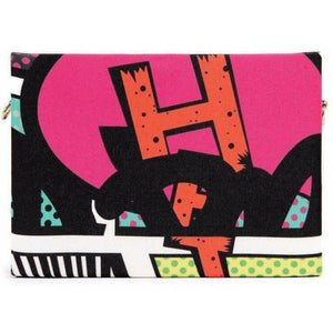 COMIC BOX CLUTCH-A - House Of Faiza