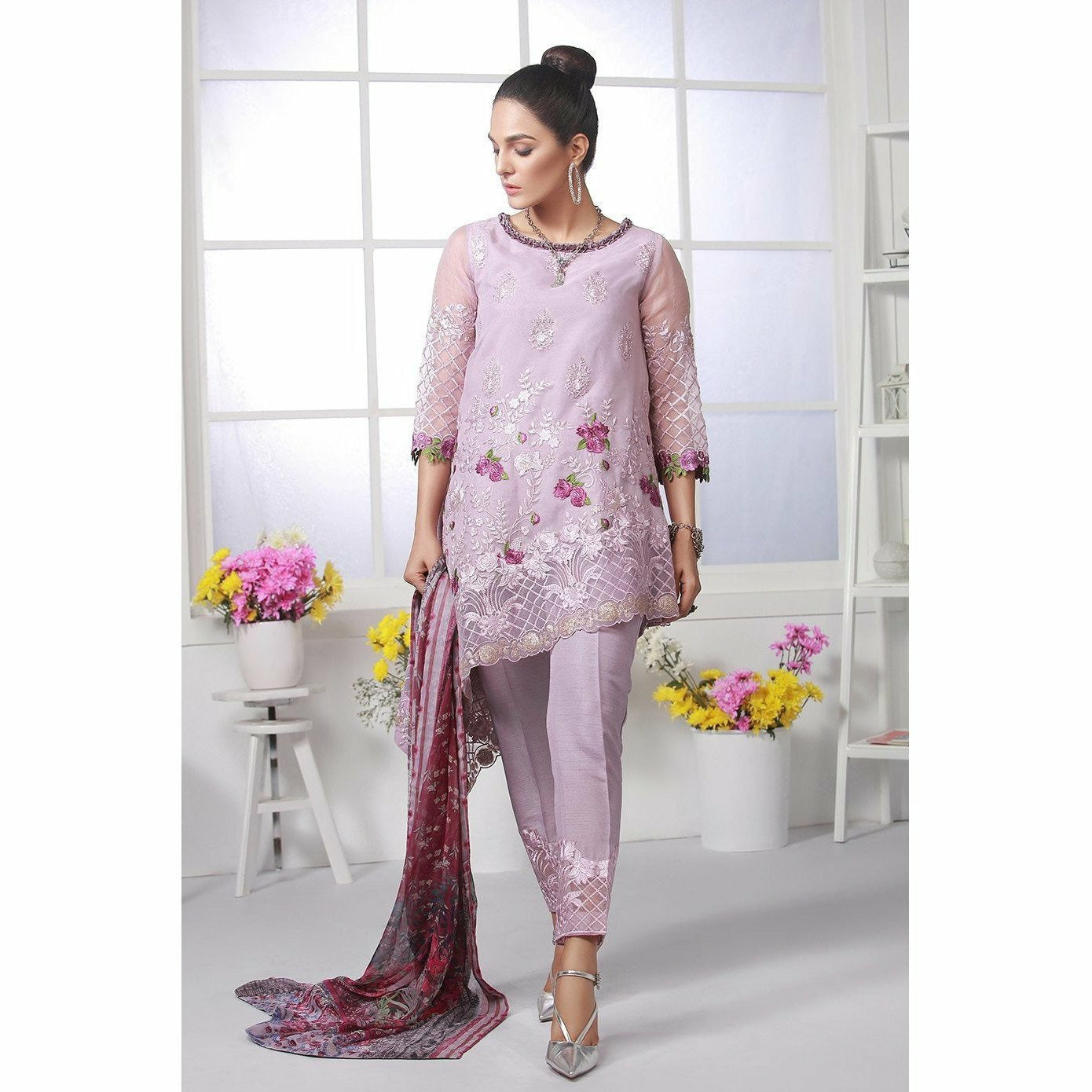 Azure | Chiffon Collection - Imperial Mist (05) - House of Faiza
