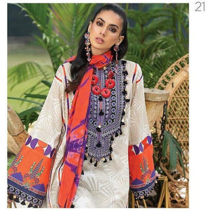 Zaha Fabulous 35 Lawn 20 Vol 1 - 21 - House of Faiza