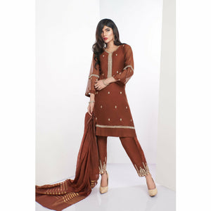 A-Meenah Semi Formal Pret 20 | 01 Chocolate - House of Faiza