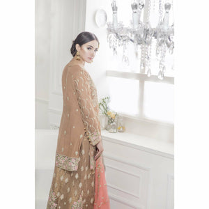Maryum N Maria Chiffon Collection | Brown Empereus - FMM-310