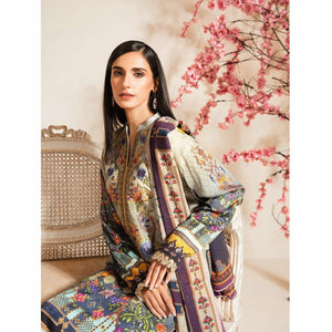 Nur | Embroidered Printed Collection | J-08 - House of Faiza