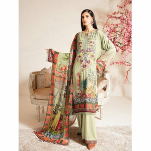 Nur | Embroidered Printed Collection | J-06 - House of Faiza