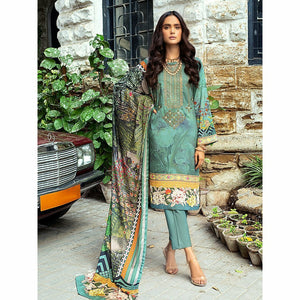 Salitex | Linen Digital Winter | 3pc | WK-00616 - House of Faiza