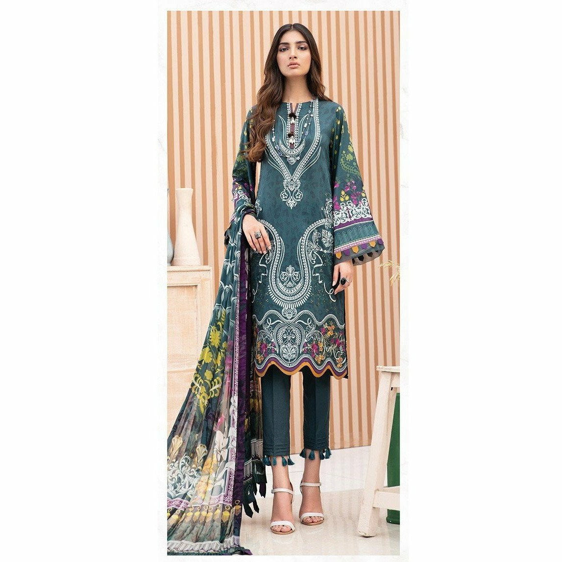 Jazmin |  Iris Lawn 20 Vol 2 | 02 Fareesa - House of Faiza