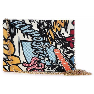 COMIC BOX CLUTCH-B - House Of Faiza