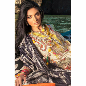 Sana Safinaz Luxury Lawn 2020 - 02A - House of Faiza
