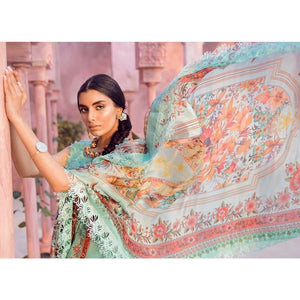 TENA DURRANI - Hera Aqua 13B | Embroidered, Printed Fully Stitched Women's Suit