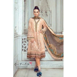 TENA DURRANI - Gia Peach 05B | Embroidered, Printed Fully Stitched Women's Suit