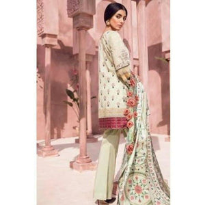TENA DURRANI - Jahanara Green 04B | Embroidered, Printed Fully Stitched Women's Suit