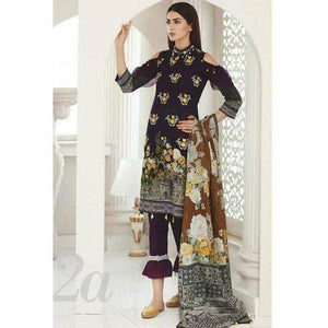 MAHNOOR EID COLLECTION - 2A | Embroidered, Printed Fully Stitched Women's Suit