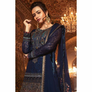 MARIA B - Blue Coral (BD-1308) | Fully Stitched Embroidered Gharara