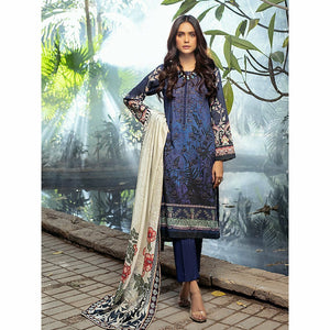 Salitex | Linen Digital Winter | 3pc | WK-00610 - House of Faiza