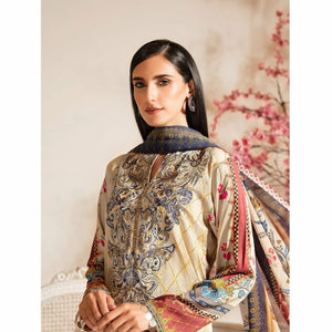 Nur | Embroidered Printed Collection | J-04 - House of Faiza