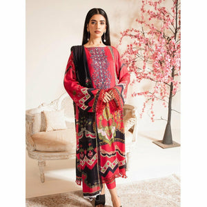 Nur | Embroidered Printed Collection | J-01 - House of Faiza