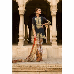 Qalamkar - RUKHSAR | Embroidered, Printed Women's Suit