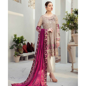 Ramsha | Rangoon Vol 6 Embroidered Chiffon 20 | D-612 - House of Faiza