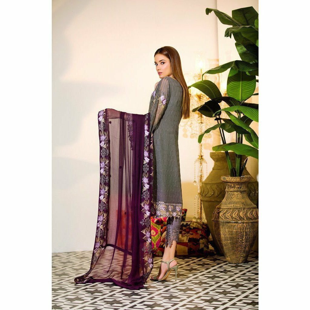 RAMSHA | EMBROIDERED CHIFFION | A103