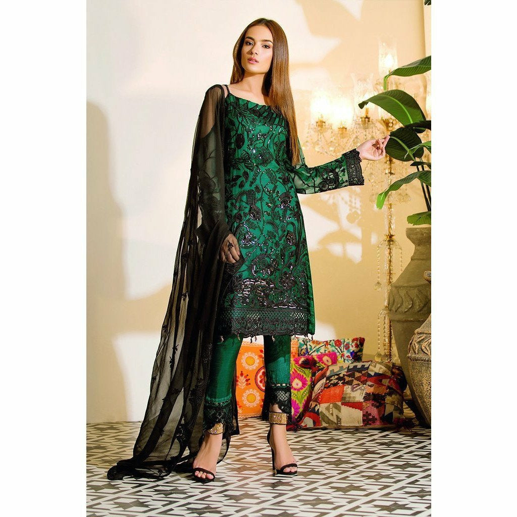 RAMSHA | EMBROIDERED CHIFFION | A101