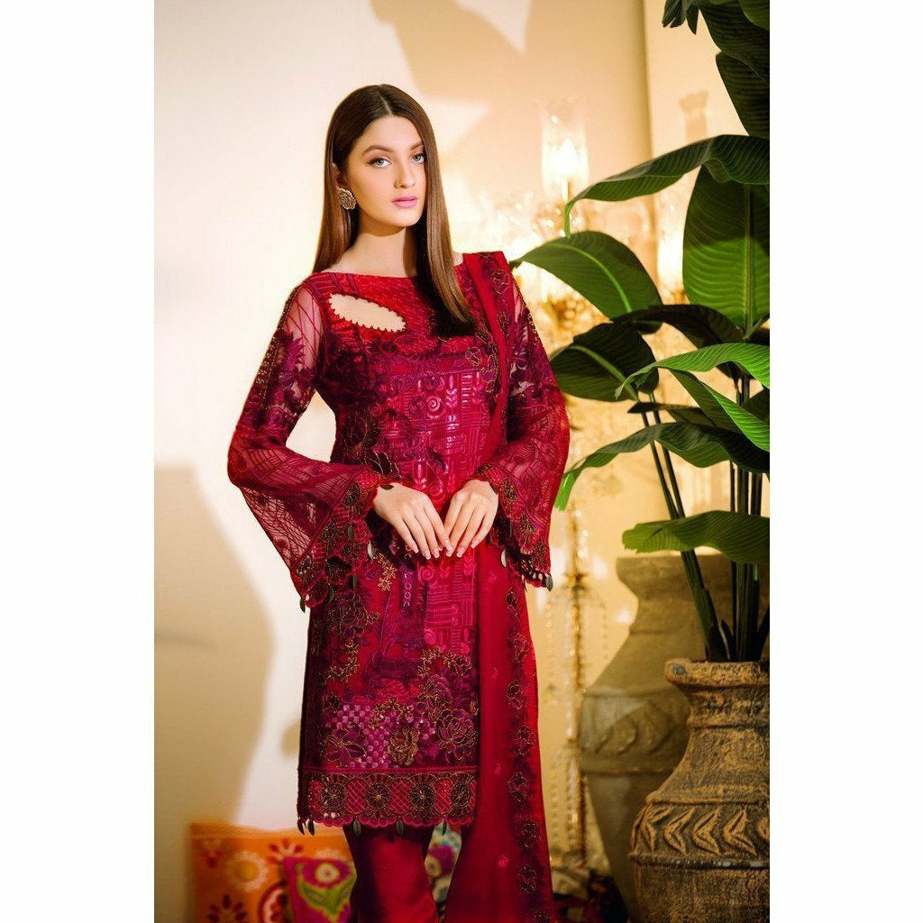 RAMSHA | EMBROIDERED CHIFFION | A105