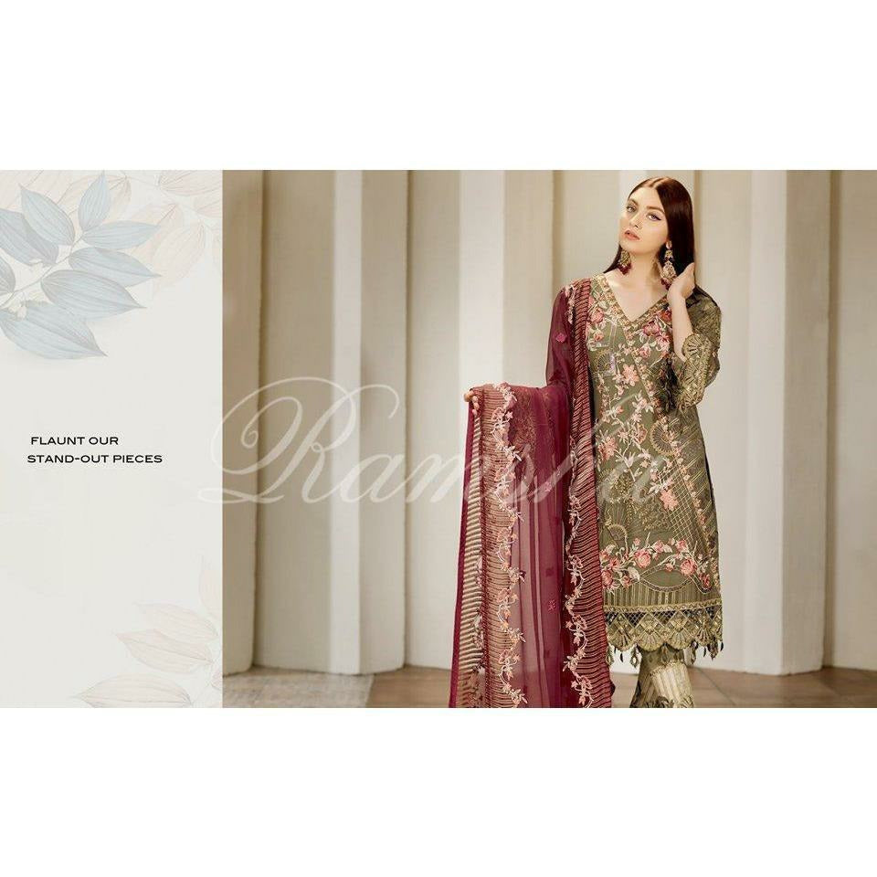 Ramsha Chiffon Collection | Design I F-1710