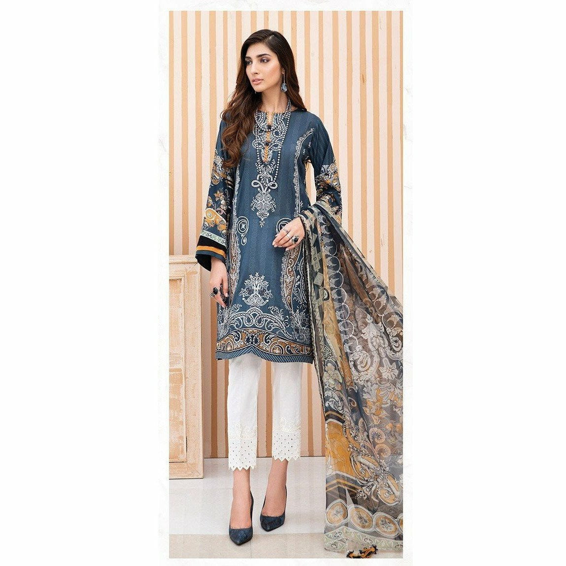 Jazmin |  Iris Lawn 20 Vol 2 | 06 Miral - House of Faiza